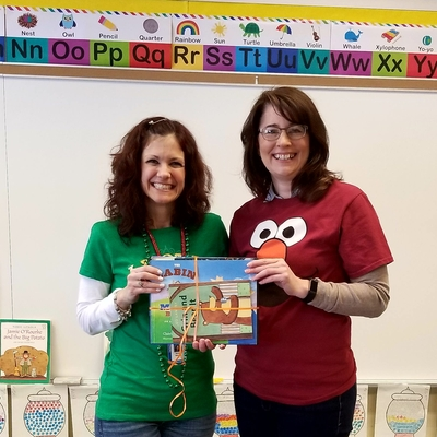 Presenting books to classrooms