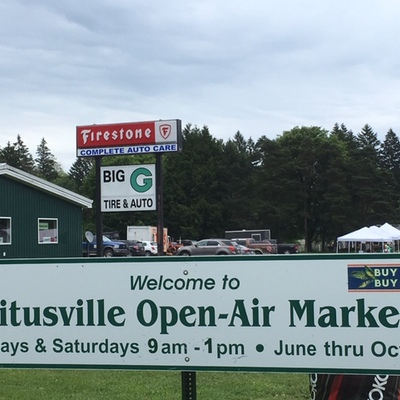 Titusville Open-Air Market Sign